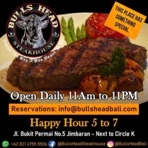 Bulls Head Steakhouse Jimbaran Bali