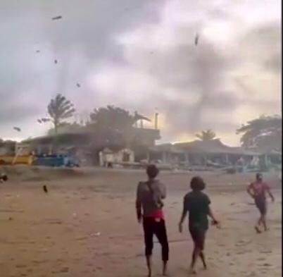 Tornado hits Bali's coastline in Canggu and Jembrana