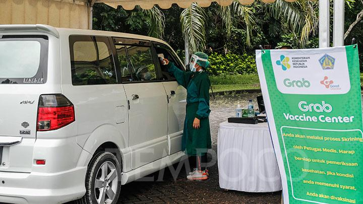 Grab Bali drive-thru vaccination campaign